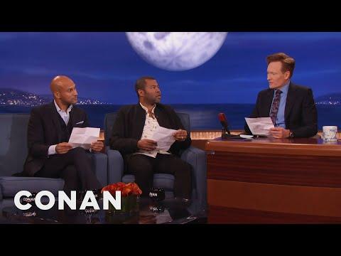 Keegan-Michael Key, Jordan Peele & Conan Reenact A Scene From