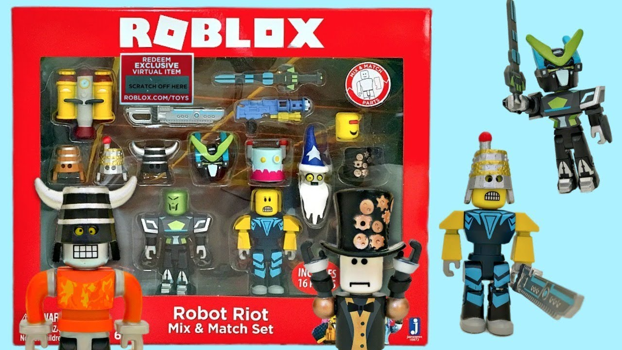 Best Coding Toys Reviewed : Roblox toys robot riot set code item series
