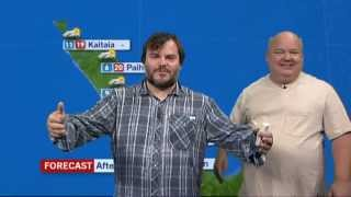 Jack Black and Kyle Gass present the weather forecast