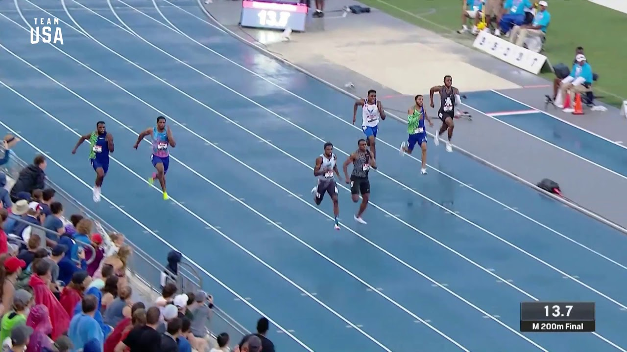 Noah Lyles Is Crowned The Men's 200-meter National Champion   Champions Series Presented By Xfi