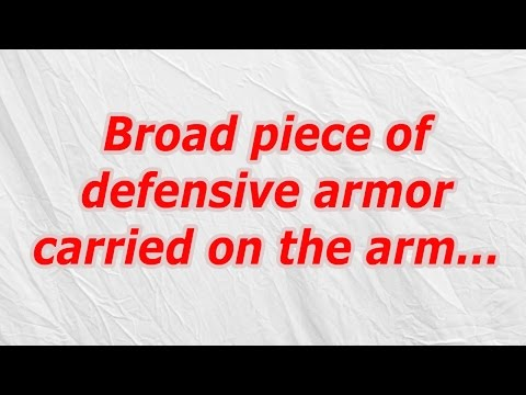 Broad piece of defensive armor carried on the arm (CodyCross Crossword Answer)