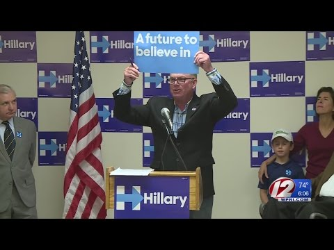 RI Democratic Party Holds Rally for Hillary Clinton