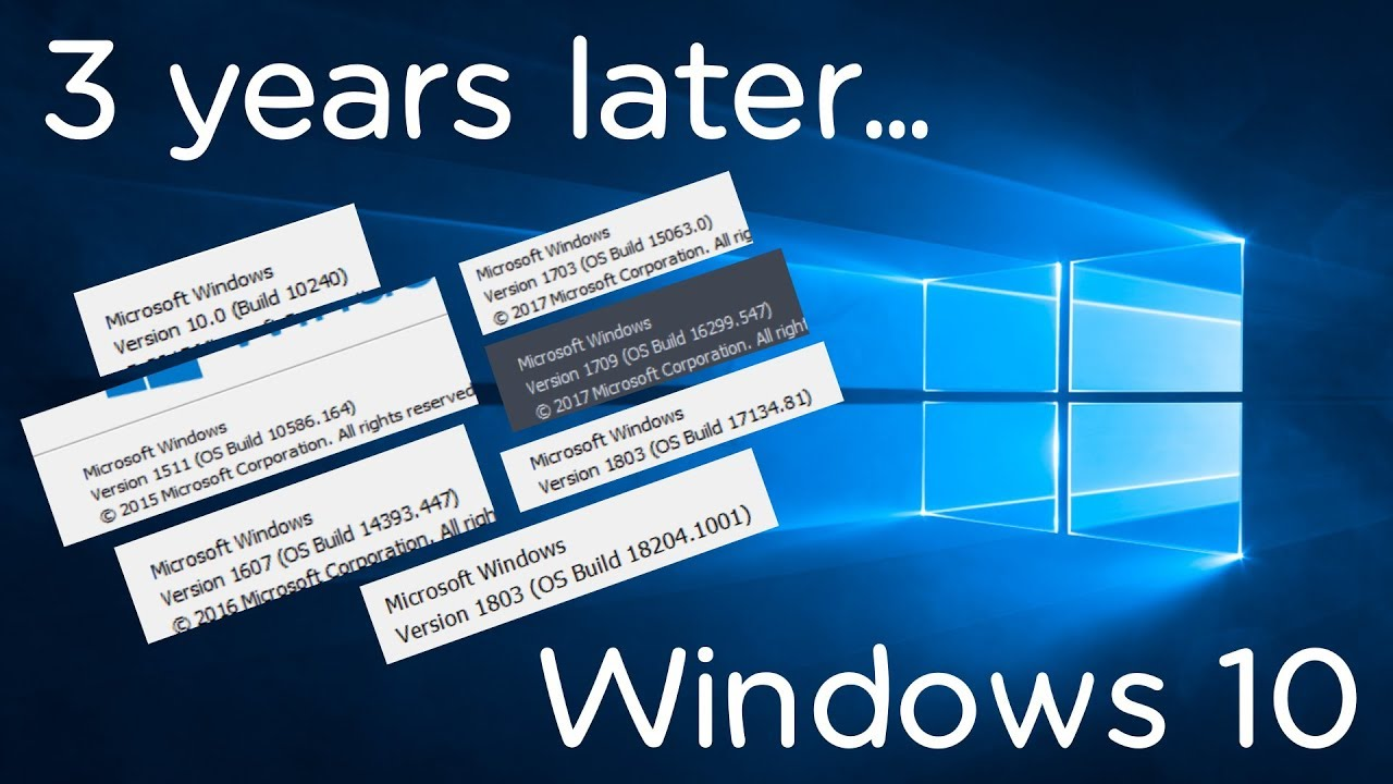 Windows 10: 3 years later