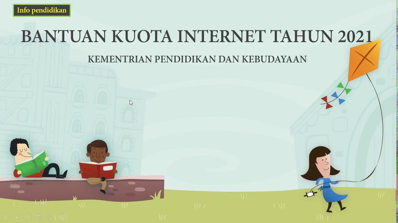 bantuan kuota internet 2021 - YouTube