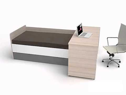 evoly jugendbett bett mit ausziehbaren g stebett und stauraum youtube. Black Bedroom Furniture Sets. Home Design Ideas