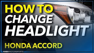 How to Change a Headlight Honda Accord