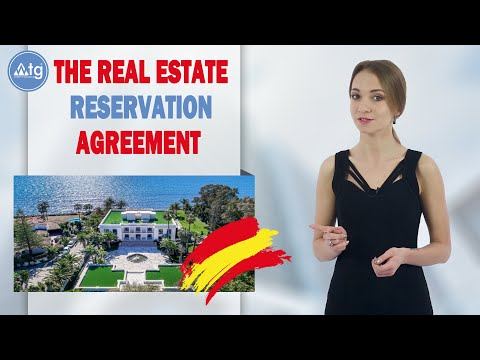 The real estate reservation agreement in Spain | WTG Spain