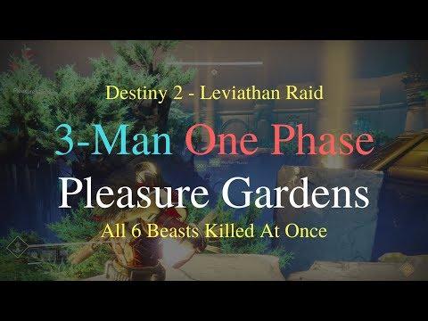 3-Man One Phase Beast Gardens (Pleasure Gardens) - Leviathan Raid