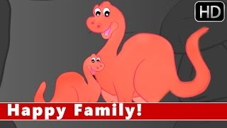 Happy Family Song | Animation Nursery Rhymes For Kids