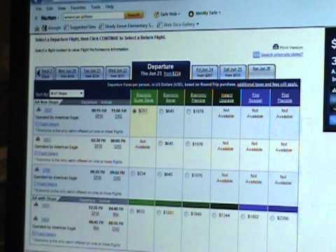 American Airlines reservation booking FLAW