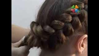 Как сделать прическу с объёмными косами