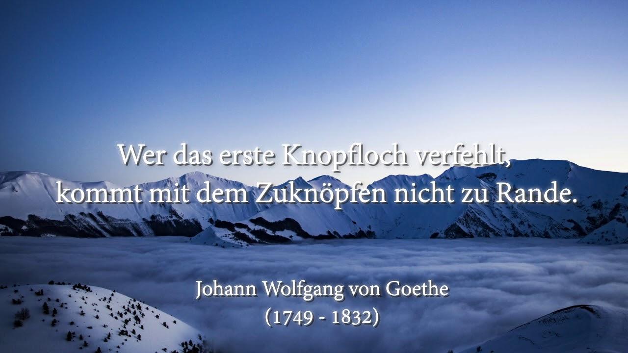 Johann Wolfgang Von Goethe Zitate Part 3 Youtube