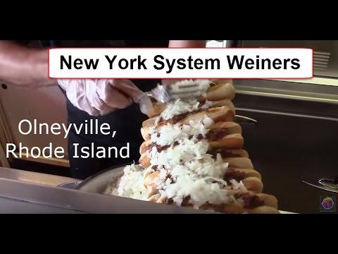 The New York System Weiners , Olneyville, Rhode Island