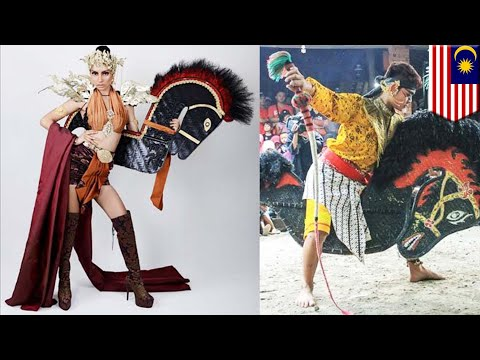 Kuda lumping diklaim Malaysia dalam kostum Miss Grand International? - TomoNews