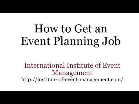 How To Get An Event Planning Job