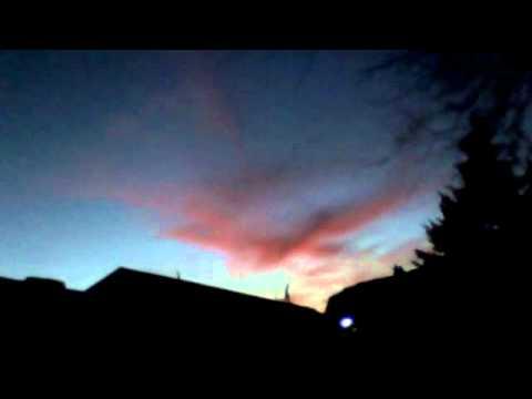 sunset reaveal's jesus on cross