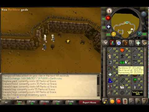 Train Agility and make 100K GP/hr and get a graceful set! | 2007 Old School Runescape