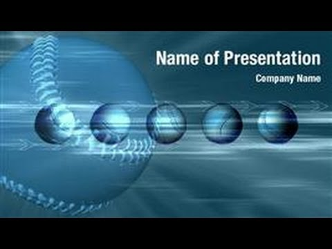 Baseball Ball Powerpoint Video Template Backgrounds