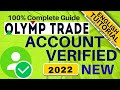 How to verify olymptrade account within 5 minutes  Open an olymptrade account live verification