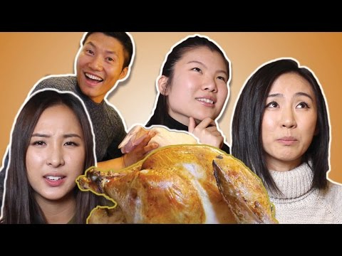 ASIAN AMERICANS make THANKSGIVING TURKEY for the FIRST TIME!