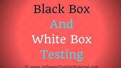Blackbox and Whitebox Testing