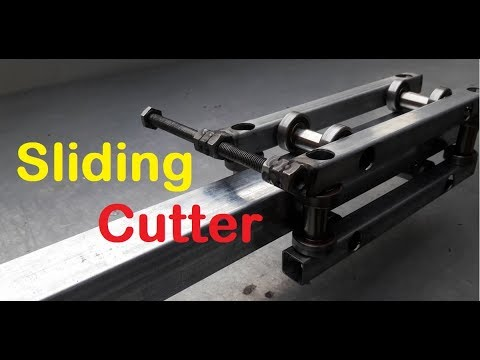 Unique Tool! Homemade Sliding Cutter, built in multifunction as wood cutting, glass cutting…
