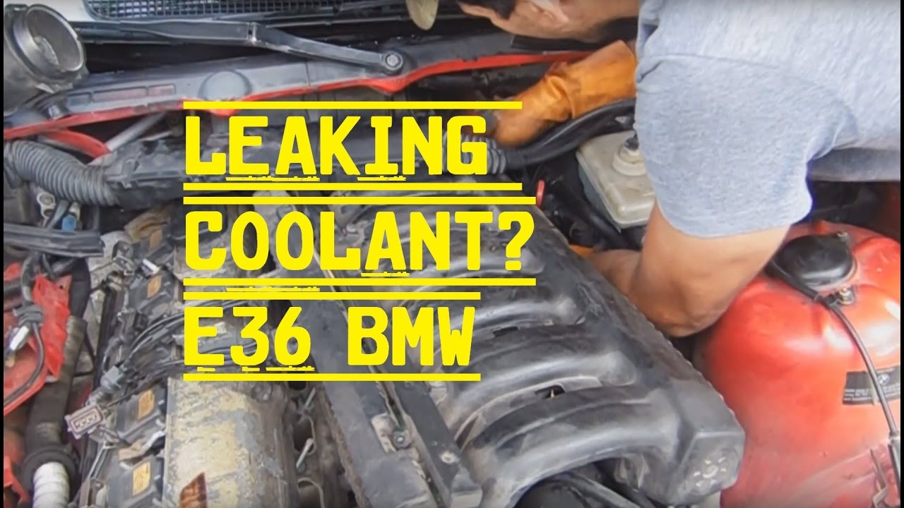 hight resolution of bmw e36 coolant leak repair intake manifold removal