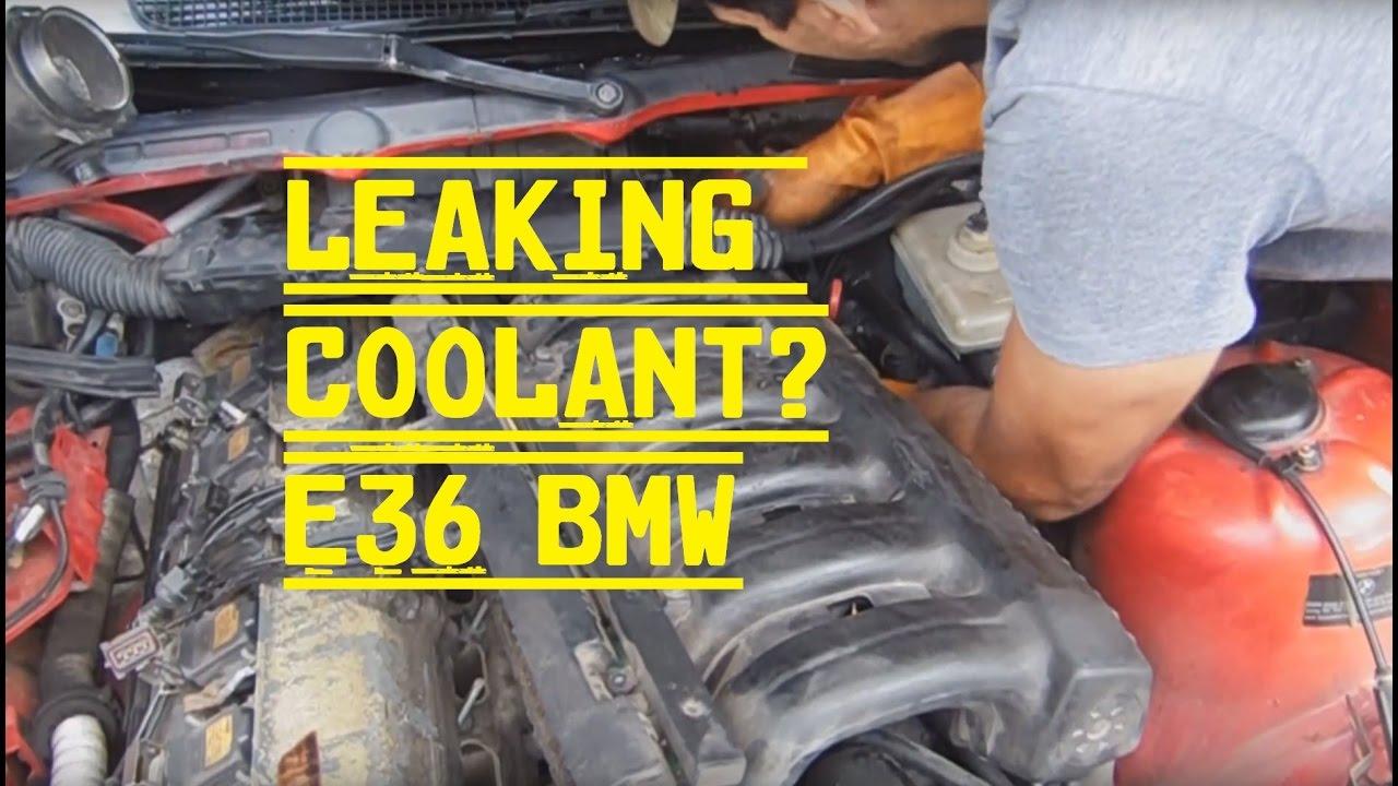 medium resolution of bmw e36 coolant leak repair intake manifold removal
