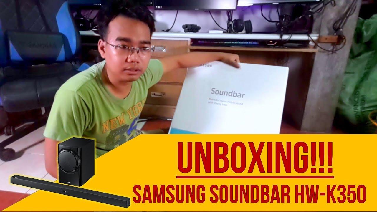 Unboxing and Test | Samsung HW-K350 Soundbar with Subwoofer