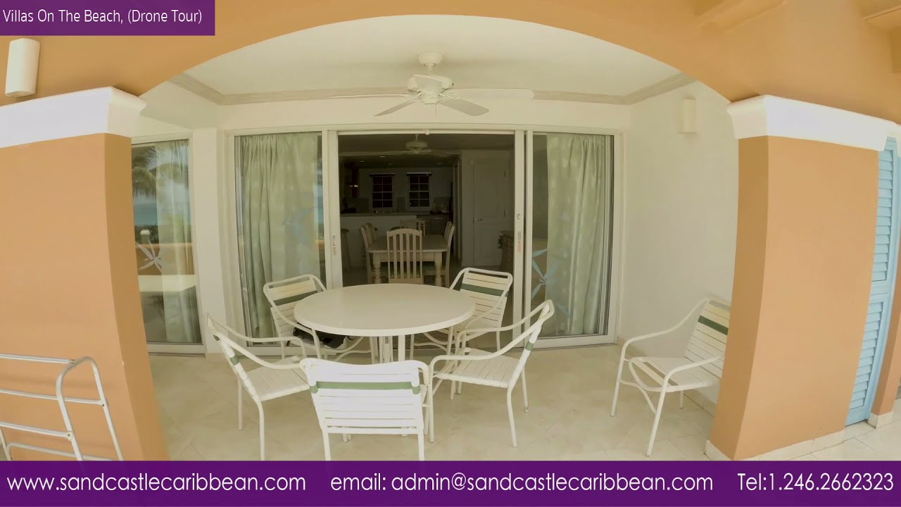 Villas On The Beach Unit 102, Holetown, St James, Barbados, fly through drone video.