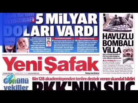Görüntülü Türkiye Gazete Manşetleri 12 Ocak 2016