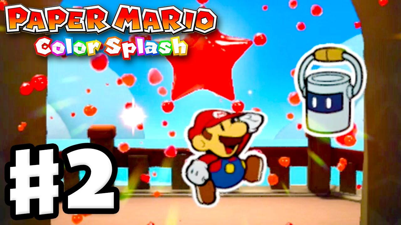 Paper Mario: Color Splash - Gameplay Walkthrough Part 2 - First ...