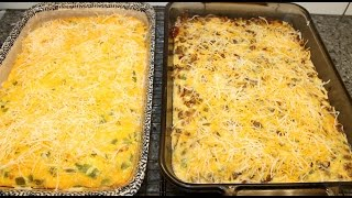 Making Meat Lovers & Vegetarian Breakfast Casseroles
