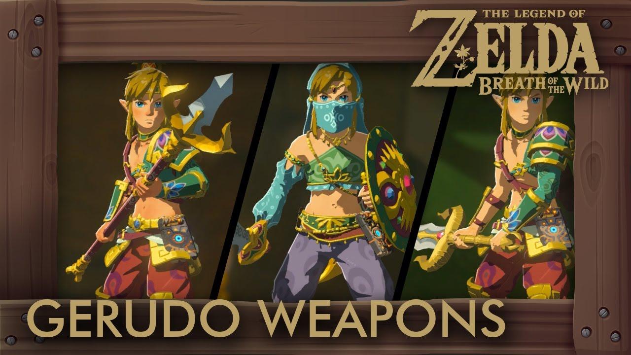 Zelda Breath of the Wild - All Gerudo Weapons (Complete Set Location)