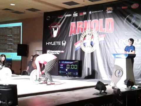 Kyle Holman (44kg lifter) Snatches. 2014 Arnold