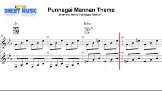 Theme Song || Punnagai Mannan || Piano