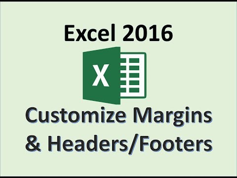 Excel 2016 - Margins Headers & Footers - How To Change Page Layout Margin Header And Footer View MS
