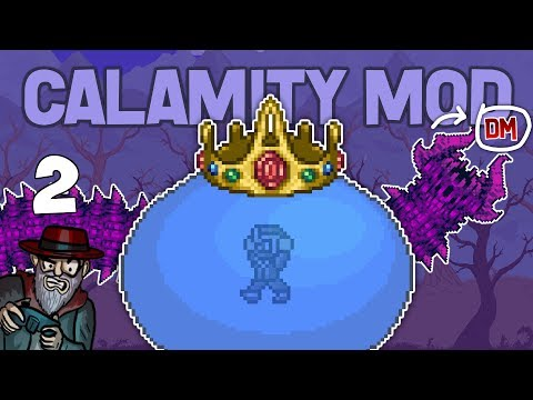 Terraria # 2 KING SLIME + DESERT SCOURGE! -  Calamity Mod D-Mode Let's Play