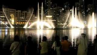 Burj Dubai Khalifa Fountain --The Prayer,  Celine Dion duet With Andrea Bocelli