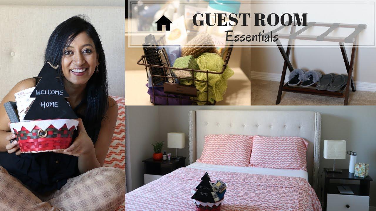 guest bedroom essentials  youtube