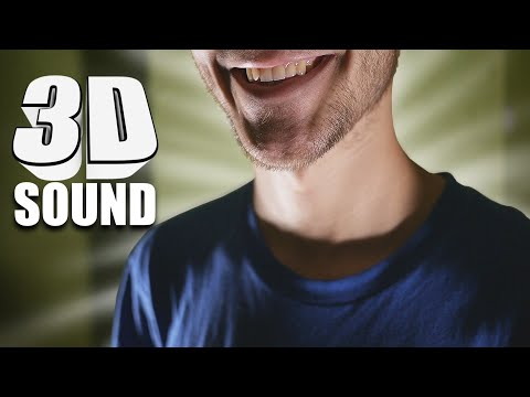 ASMR true BINAURAL, Walking around you with different triggers - Slovak, English whispering -