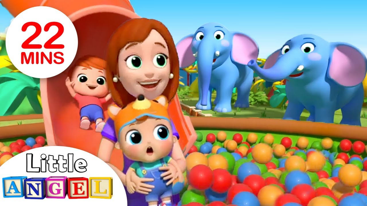 Zoo Song | Fun with Animals | Nursery Rhymes by Little Angel