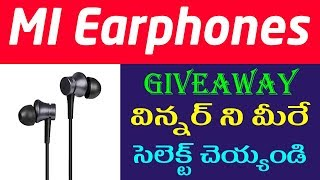(Winner Announced) Earphones giveaway || mi headset give away || tekpedia giveaway