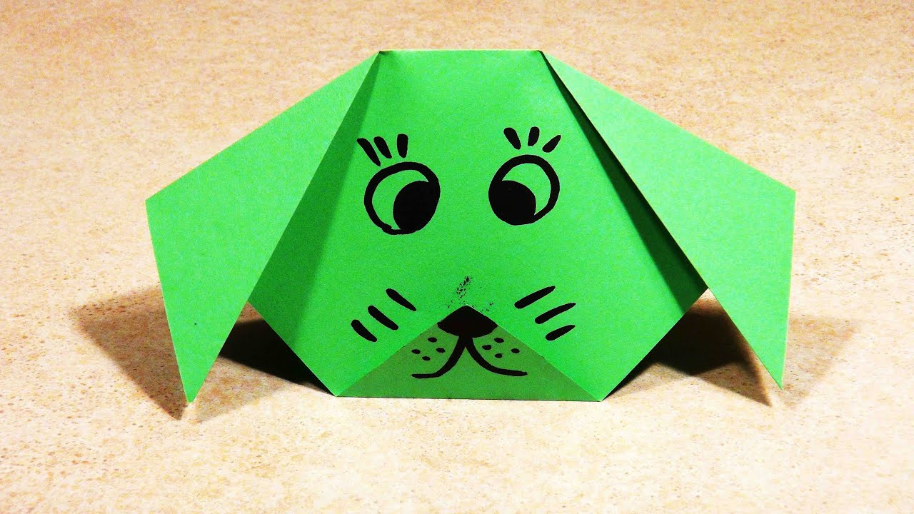 PAPER CRAFTS FOR KIDS Easy origami for kids Origami Dog ... - photo#16