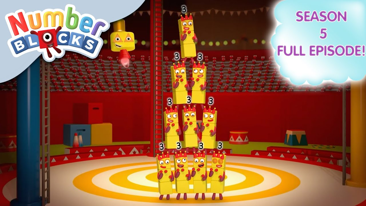 Download @Numberblocks   Full Episodes   S5 EP17: Circus of Threes