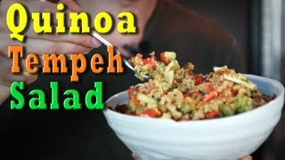 Vegan Recipe Quinoa Tempeh Salad | Jason Wrobel