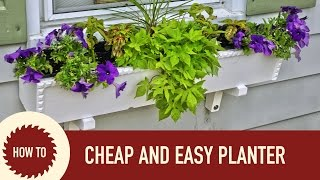 How To Make A Planter Box | Cheap And Easy