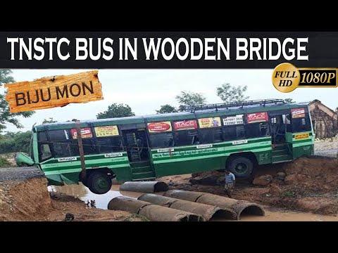 TNSTC bus in Wooden bridge of TamilNadu