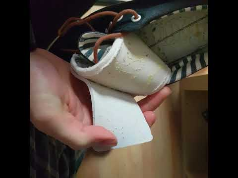 Trying to destroy a cheap shoe with my bare hands but being too weak to do so
