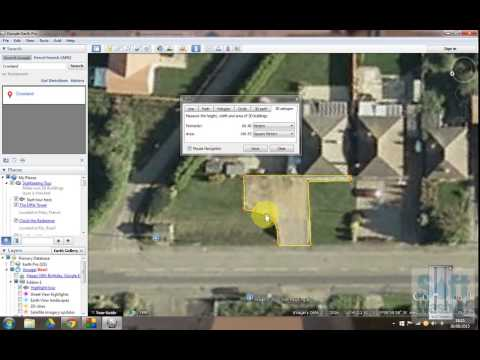How to use Google Earth Pro to measure a driveway area